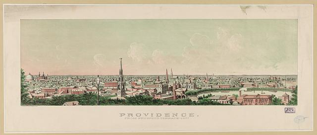Providence - from Prospect Terrace, 1877