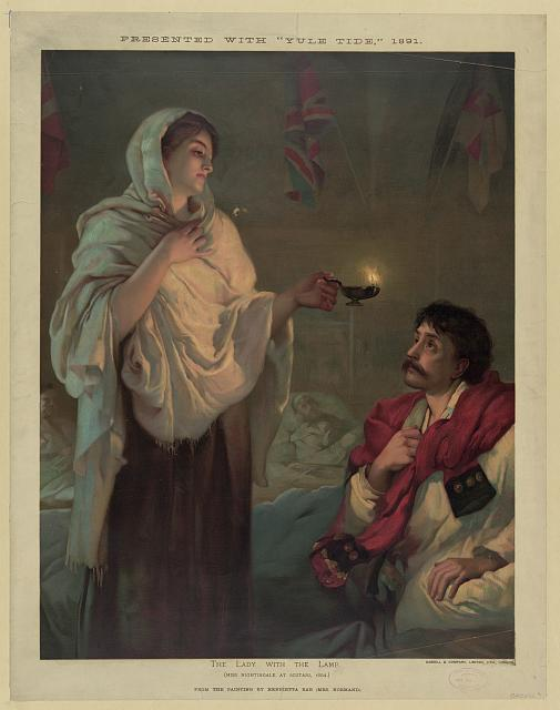 The lady with the lamp (Miss Nightingale at Scutari, 1854)