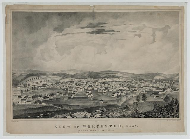 View of Worcester, Mass. taken from Union Hill