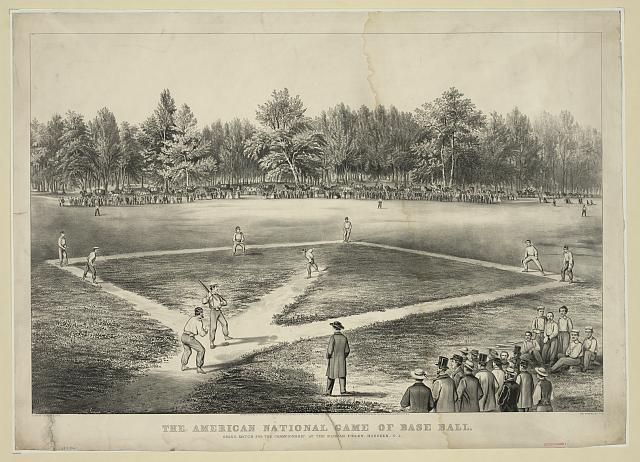 The American national game of base ball. Grand match for the championship at the Elysian Fields, Hoboken, N.J.