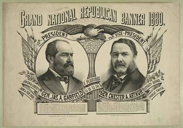 Grand national Republican banner 1880
