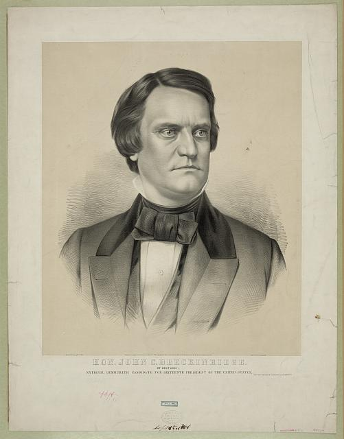 Hon. John C. Breckinridge: of Kentucky, national democratic candidate for sixteenth president of the United States