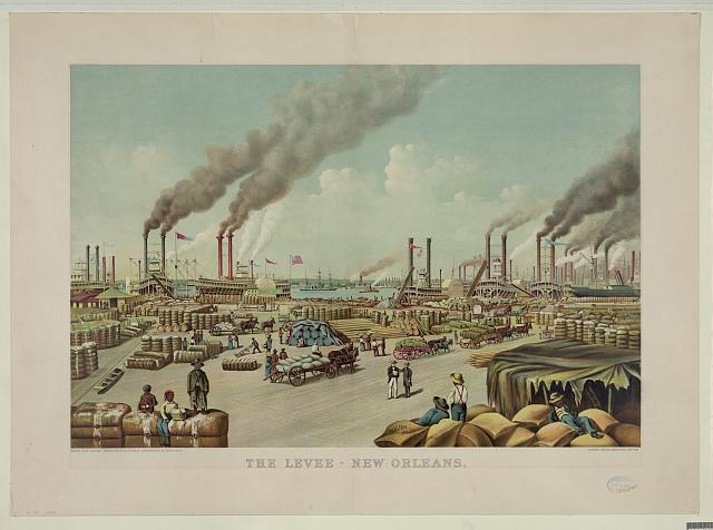 The levee-New Orleans