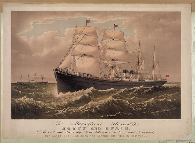 The magnificent steamships Egypt and Spain: of the national steamship line, between New York and Liverpool