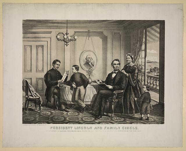 President Lincoln and family circle