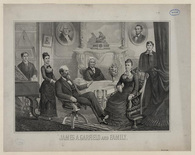 James A. Garfield and family