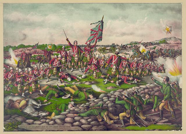 Battle of Belmont. Nov. 23D 1899. Boer-British War