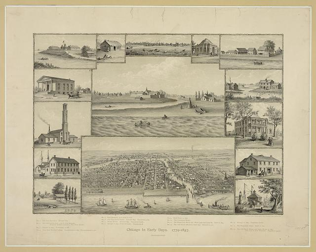 Chicago in early days. 1779-1857