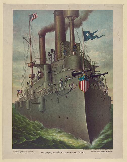 "Rear Admiral Dewey's flagship ""Olympia"""