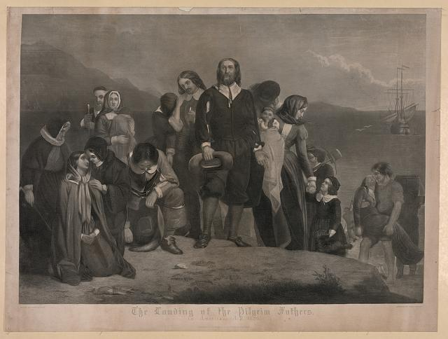 The landing of the pilgrim fathers, in America. A.D. 1620