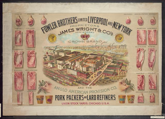 Fowler Brothers Limited Liverpool and New York. Pork packers and lard refiners