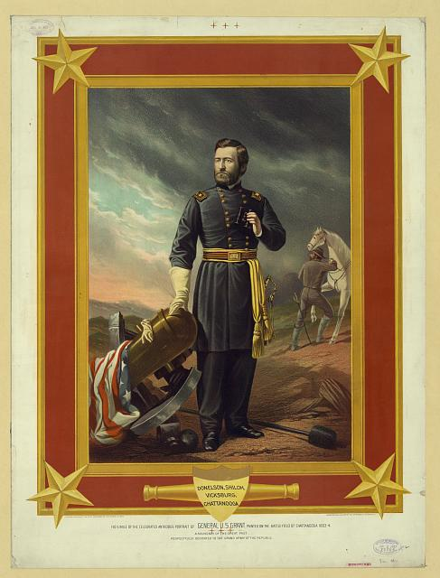Facsimile of the celebrated antrobus portrait of General U.S. Grant, painted on the battlefield of Chattanooga 1863-4