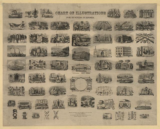 Chart of illustrations for business purposes
