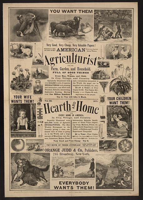 American agriculturist. Hearth and home