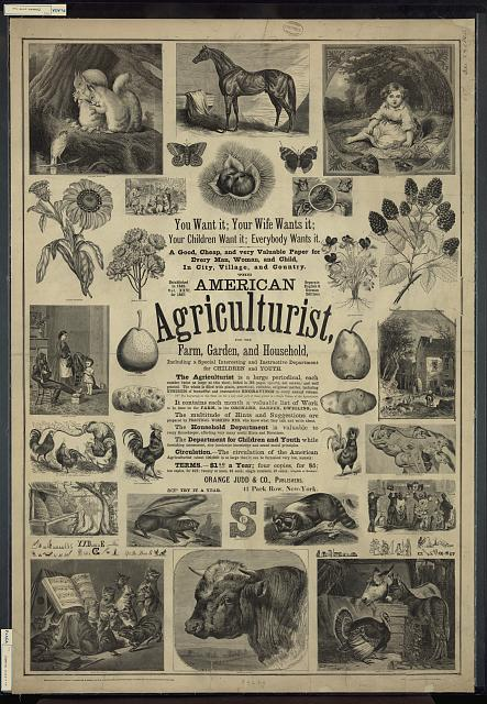 American agriculturist. Farm, garden, and household