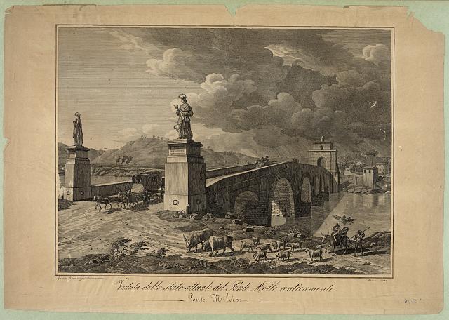 Veduta dello stato attuale del Ponte Meolle, anticamente