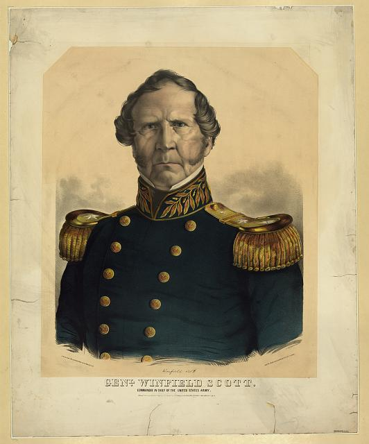 Genl. Winfield Scott., commander in chief of the United States Army