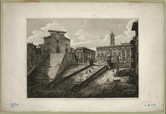 Veduta del Campidoglio Romano