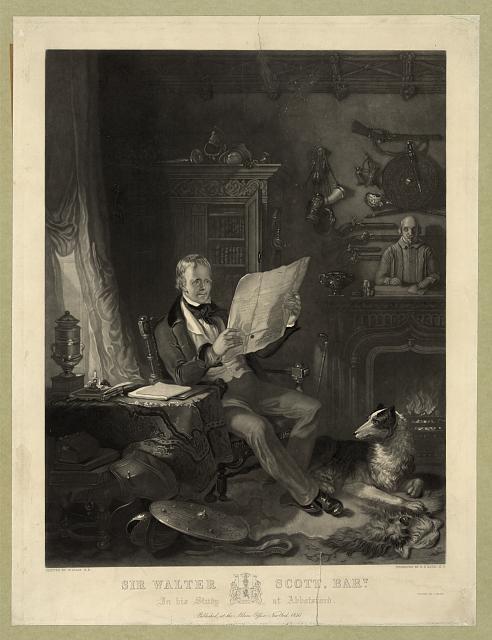 Sir Walter Scott, Bart. in his study at Abbotsford