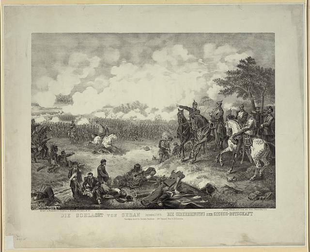 Die Schlacht von Sedan...die uiberbringung der sieges-botschaft