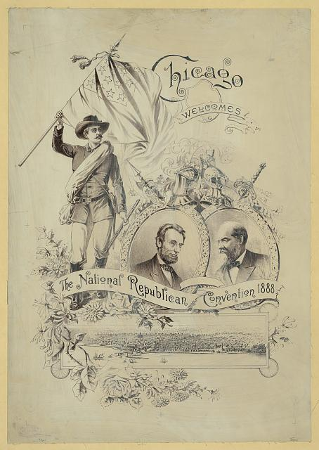 Chicago welcomes the National Republican Convention 1888