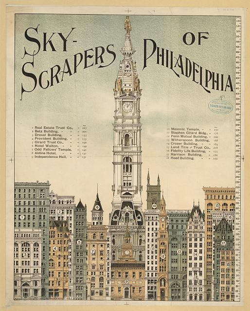 Sky-scrapers of Philadelphia