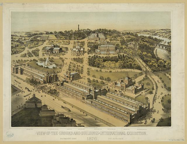 View of the ground and buildings, International Exhibition, 1876, Fairmount Park, Philadelphia