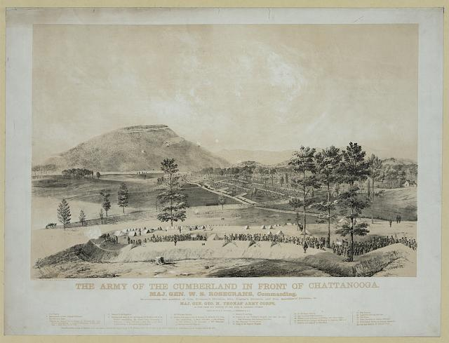 The Army of the Cumberland in front of Chattanooga