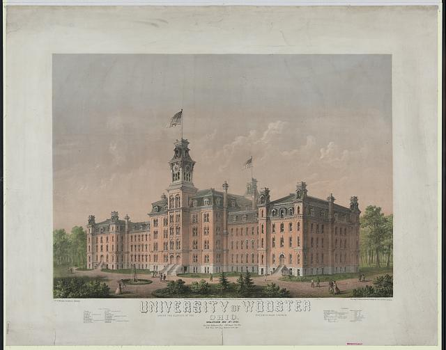 University of Wooster, Ohio, organized Dec. 18th 1866, under the auspices of the Presbyterian Church