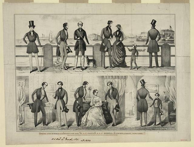 Spring and summer fashions for 1841, by A.F. Saguezs & G.C. Merrill, 25 Courtland-St., New-York, agents