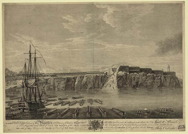 Perspective view of entring the breach of the Moro Castle, by storm the 30th of July 1762, ...