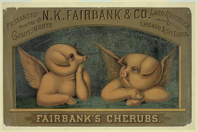 Fairbank's cherubs--Presented with the compliments of N.K. Fairbank & Co., lard refiners, Chicago & St. Louis