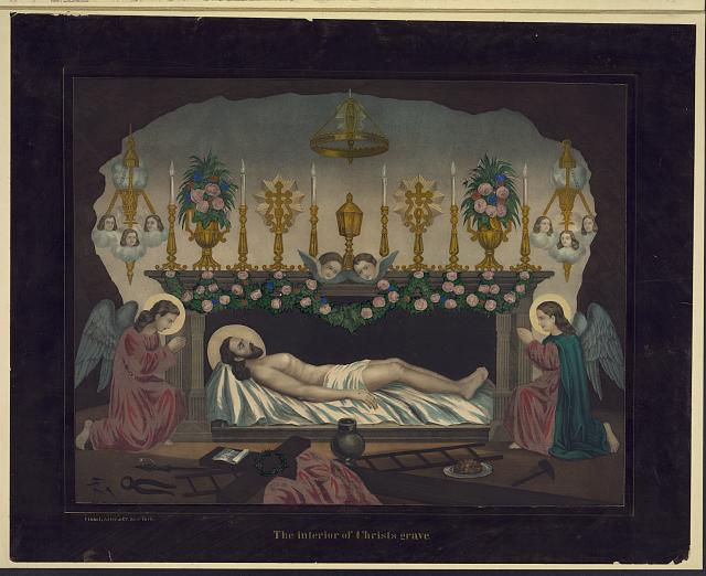 The interior of Christs grave