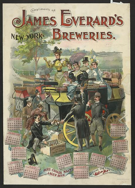 Compliments of James Everard's breweries, New York
