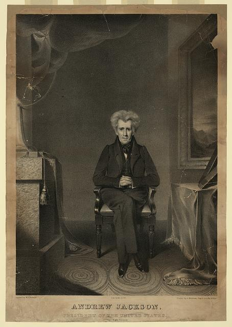 Andrew Jackson, president of the United States