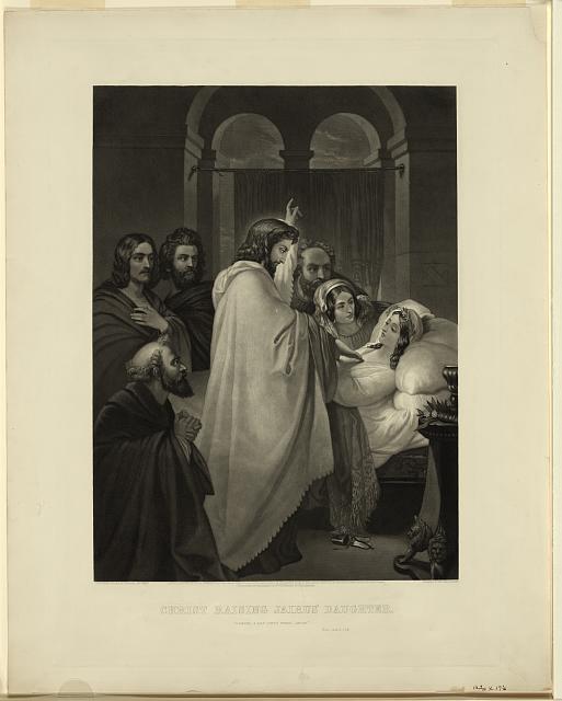 Christ raising Jairus' daughter