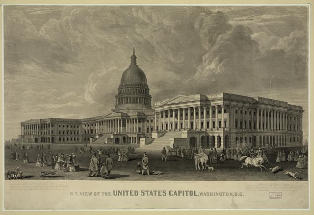 N.E. view of the United States Capitol, Washington, D.C.