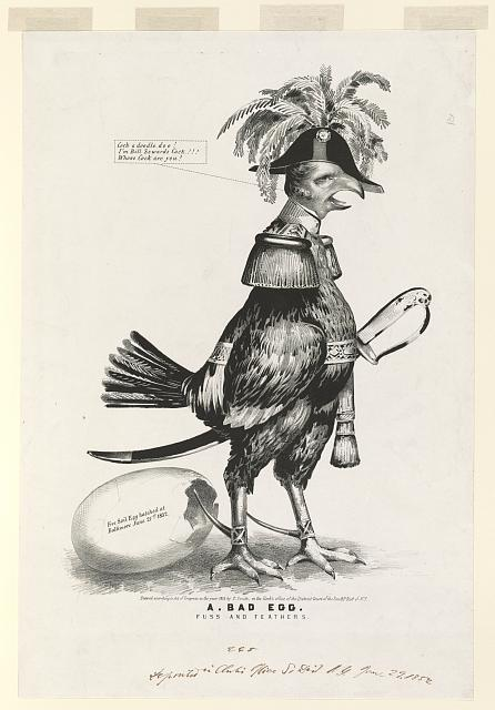 A bad egg. Fuss and feathers