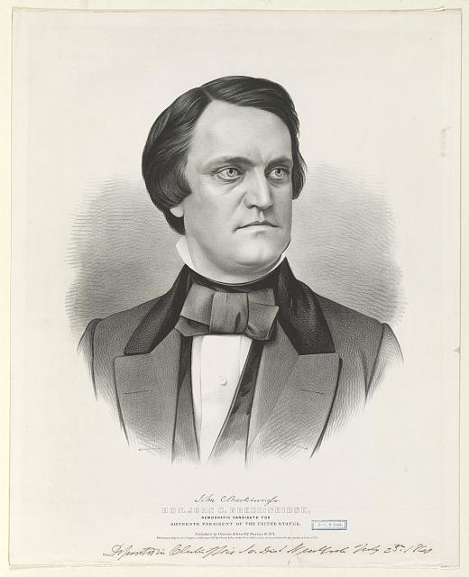 Hon. John C. Breckinridge: Democratic candidate for sixteenth president of the United States