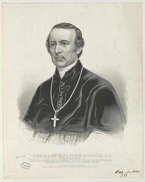 The most Rev. John Hughes, D.D.: first archbishop of New York