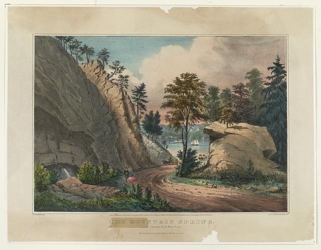 The mountain spring: near cozzen's dock, West Point