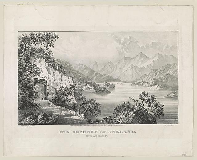 The scenery of Ireland: upper Lake Killarney