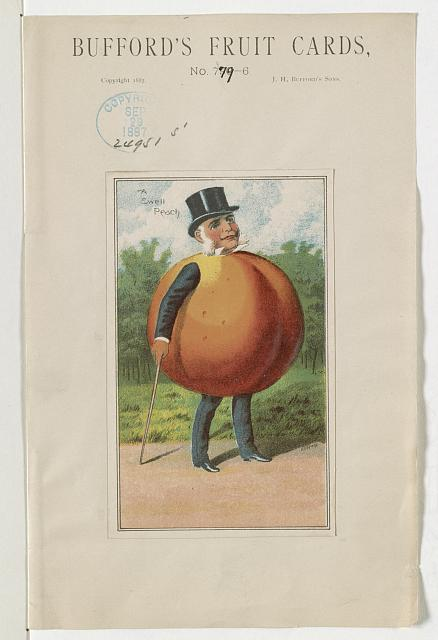 Bufford's fruit cards, no. 779-6 [peach]