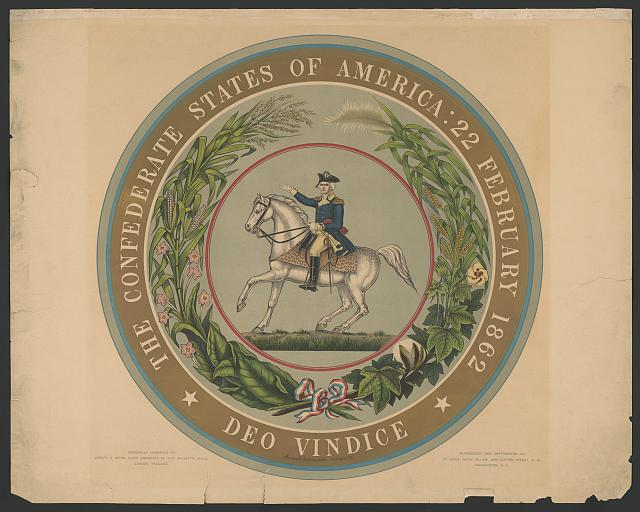 The Confederate States of America : 22 February 1862 - deo vindice