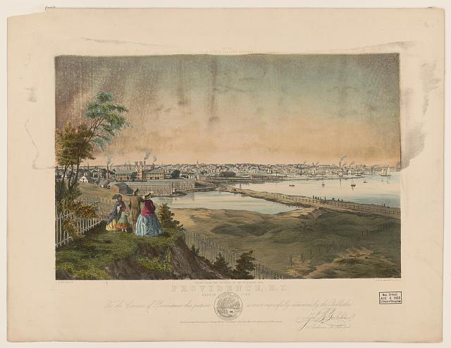 Providence, R.I., harbor view, taken from the grounds of Geo. W. Rhodes, Esq.