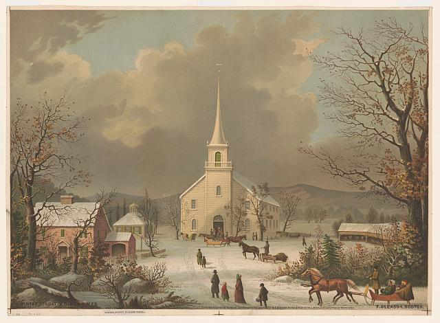 Winter Sunday in olden times