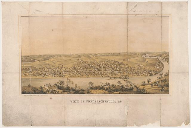 View of Fredericksburg, Va - Nov. 1862