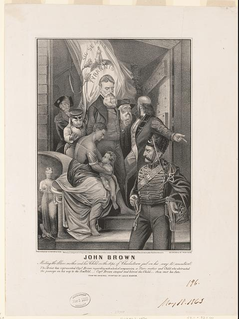John Brown. Meeting the slave-mother and her child on the steps of Charlestown jail on his way to execution