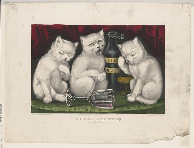 The three jolly kittens - after the feast