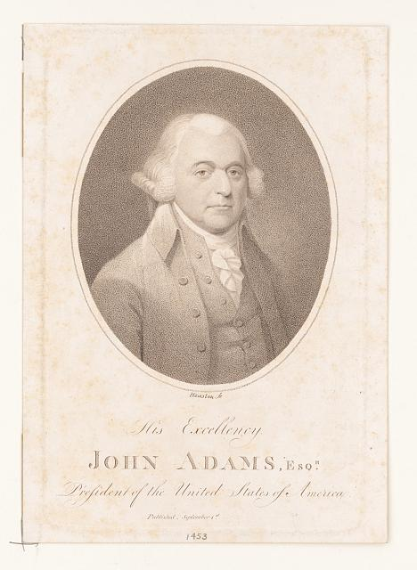 His Excellency John Adams, Esqr. President of the United States of America